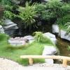 Hồ nước là phần không thể thiếu trong sân vườn