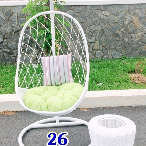 Ghế xích đu caro lưới trắng KH26