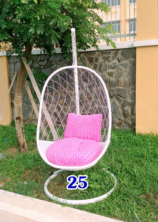 Ghế xích đu lưới hồng KH25