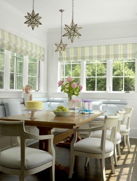 Có thể dùng rèm để điều tiết nguồn sáng. Lắp đặt ghế dài tương đương với bệ cửa sổ. Tùy vào diện tích của căn phòng để bạn lựa chọn chiều rộng của ghế phù hợp.